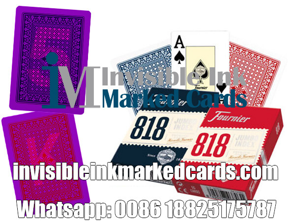 Fournier 818 Design Cheating Playing Cards for Casinos Games