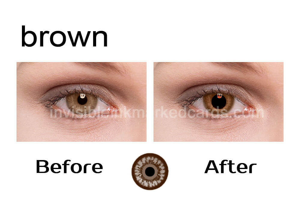 Infrared Contact Lenses for Brown Eyes