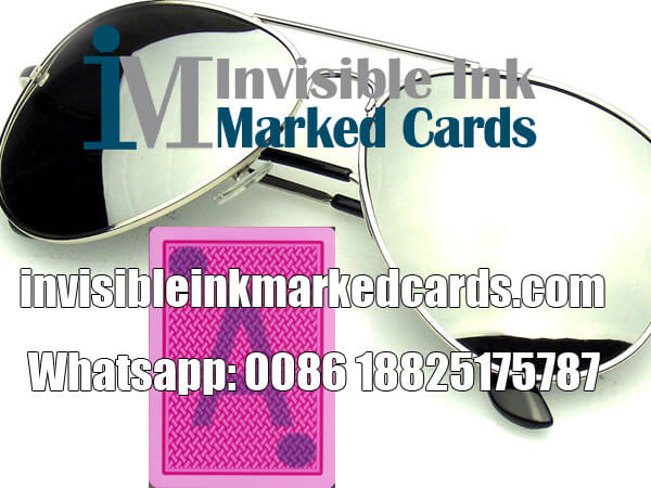 luminous ink marked cards glasses