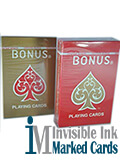 bonus marked playing cards
