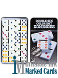 double six luminous ink marked dominoes